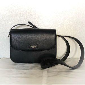 NEVER USED Kate Spade Black Leather Crossbody Bag